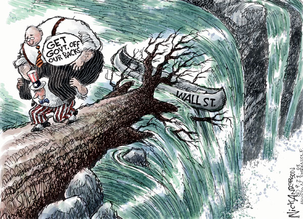 Nick Anderson  Nick Anderson's Editorial Cartoons 2008-09-23 stock market