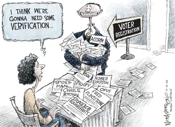 Nick Anderson  Nick Anderson's Editorial Cartoons 2008-10-12 voter fraud