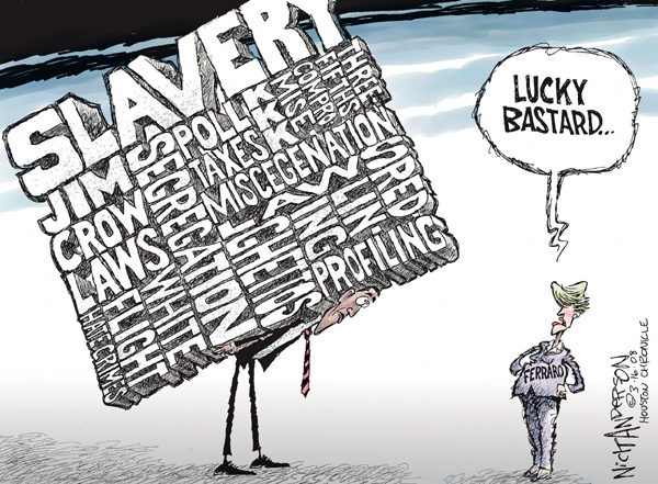 Cartoonist Nick Anderson  Nick Anderson's Editorial Cartoons 2008-03-16 compromise