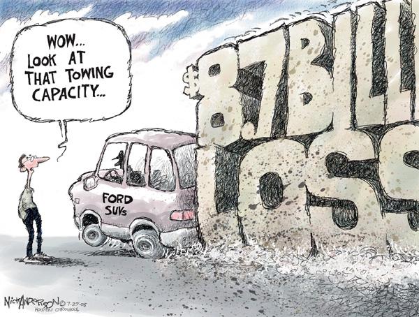 Cartoonist Nick Anderson  Nick Anderson's Editorial Cartoons 2008-07-27 automotive