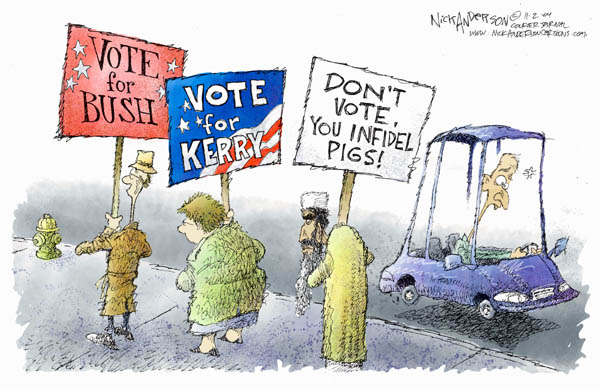 Nick Anderson  Nick Anderson's Editorial Cartoons 2004-11-02 2004 election