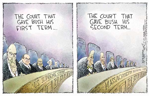 Nick Anderson  Nick Anderson's Editorial Cartoons 2004-11-05 2000 election Supreme Court