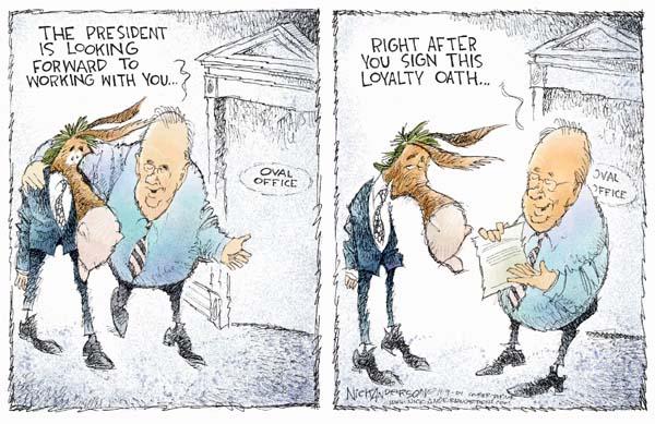 Nick Anderson  Nick Anderson's Editorial Cartoons 2004-11-09 partisan politics