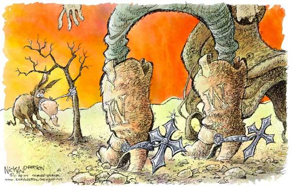 Nick Anderson  Nick Anderson's Editorial Cartoons 2004-11-14 partisan politics