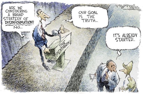 Nick Anderson  Nick Anderson's Editorial Cartoons 2004-12-14 disinformation