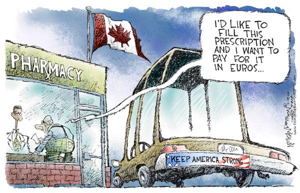 Cartoonist Nick Anderson  Nick Anderson's Editorial Cartoons 2004-12-19 medical economy
