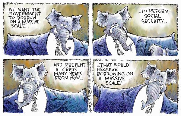 Cartoonist Nick Anderson  Nick Anderson's Editorial Cartoons 2004-12-23 social security