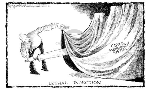 Nick Anderson  Nick Anderson's Editorial Cartoons 2003-01-14 justice