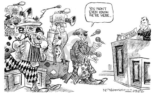 Nick Anderson  Nick Anderson's Editorial Cartoons 2002-01-16 media distraction
