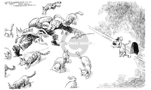 Cartoonist Nick Anderson  Nick Anderson's Editorial Cartoons 2003-01-22 invasion