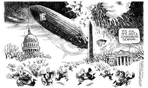 Cartoonist Nick Anderson  Nick Anderson's Editorial Cartoons 2002-01-31 disaster
