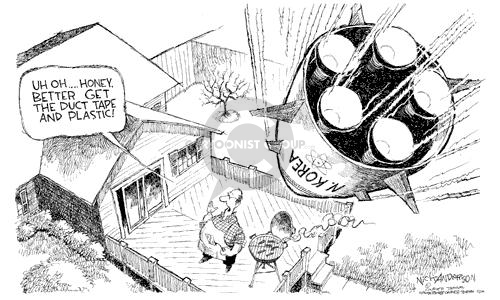 Cartoonist Nick Anderson  Nick Anderson's Editorial Cartoons 2003-02-13 missile