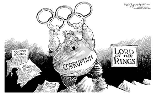 Nick Anderson  Nick Anderson's Editorial Cartoons 2002-02-19 corruption