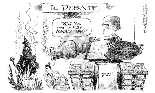 Cartoonist Nick Anderson  Nick Anderson's Editorial Cartoons 2003-02-26 personal attack