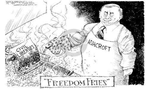 Cartoonist Nick Anderson  Nick Anderson's Editorial Cartoons 2003-03-13 torch