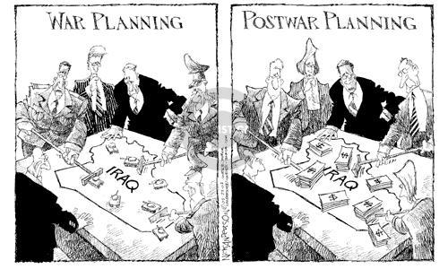 Cartoonist Nick Anderson  Nick Anderson's Editorial Cartoons 2003-03-23 battle plan