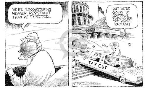 Cartoonist Nick Anderson  Nick Anderson's Editorial Cartoons 2003-03-27 barrier