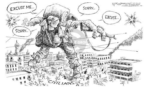 Cartoonist Nick Anderson  Nick Anderson's Editorial Cartoons 2003-03-28 accident