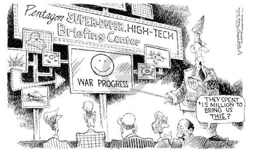 Nick Anderson  Nick Anderson's Editorial Cartoons 2003-03-30 distraction