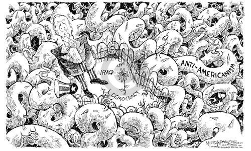 Cartoonist Nick Anderson  Nick Anderson's Editorial Cartoons 2003-04-08 uncle