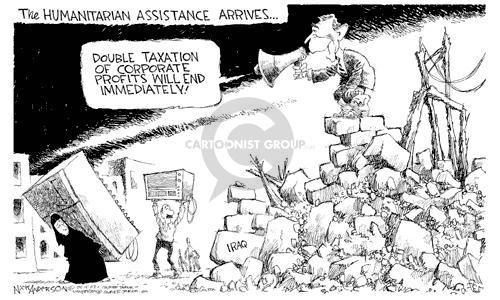 Cartoonist Nick Anderson  Nick Anderson's Editorial Cartoons 2003-04-15 humanitarian