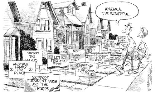 Nick Anderson  Nick Anderson's Editorial Cartoons 2003-04-18 freedom of expression