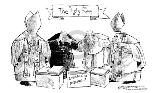 Cartoonist Nick Anderson  Nick Anderson's Editorial Cartoons 2002-04-24 Catholicism