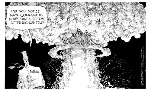 Nick Anderson  Nick Anderson's Editorial Cartoons 2003-04-29 atomic bomb