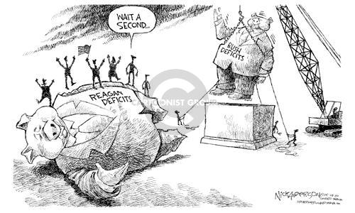 Cartoonist Nick Anderson  Nick Anderson's Editorial Cartoons 2003-05-08 George Bush