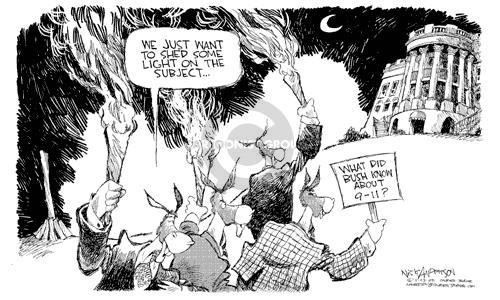 Cartoonist Nick Anderson  Nick Anderson's Editorial Cartoons 2002-05-23 torch
