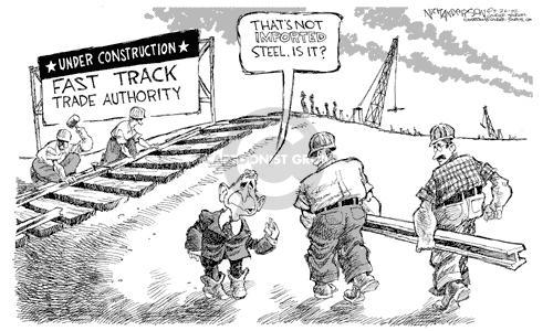 Nick Anderson  Nick Anderson's Editorial Cartoons 2002-05-26 tariff
