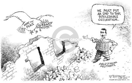 Cartoonist Nick Anderson  Nick Anderson's Editorial Cartoons 2003-06-10 Israel