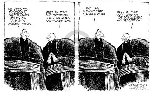 Cartoonist Nick Anderson  Nick Anderson's Editorial Cartoons 2002-06-14 child abuse