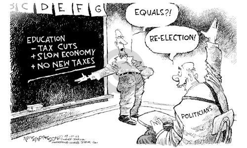 Cartoonist Nick Anderson  Nick Anderson's Editorial Cartoons 2003-07-01 economic policy