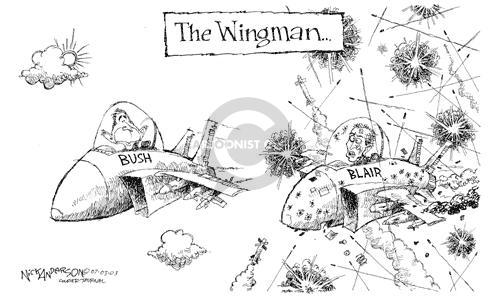 Cartoonist Nick Anderson  Nick Anderson's Editorial Cartoons 2003-07-03 weapon