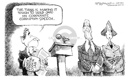 Nick Anderson  Nick Anderson's Editorial Cartoons 2002-07-09 corruption