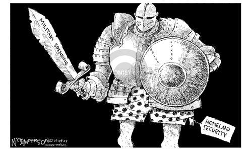 Nick Anderson  Nick Anderson's Editorial Cartoons 2003-07-09 security