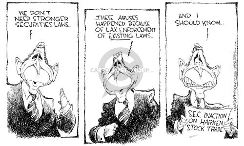 Nick Anderson  Nick Anderson's Editorial Cartoons 2002-07-12 conflict of interest