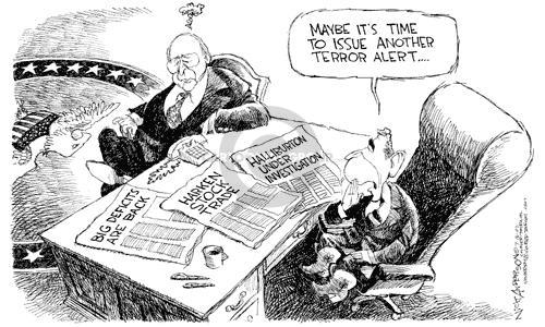 Cartoonist Nick Anderson  Nick Anderson's Editorial Cartoons 2002-07-16 inconsistency