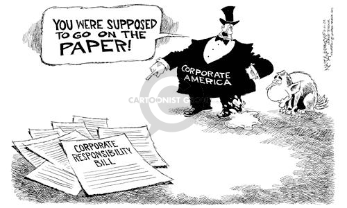 Cartoonist Nick Anderson  Nick Anderson's Editorial Cartoons 2002-08-01 congressional oversight
