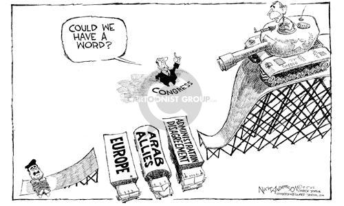 Cartoonist Nick Anderson  Nick Anderson's Editorial Cartoons 2002-09-05 disagreement