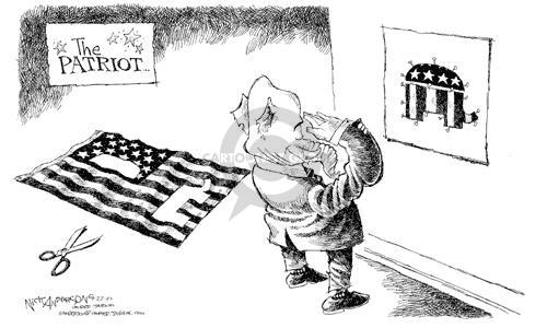 Cartoonist Nick Anderson  Nick Anderson's Editorial Cartoons 2002-09-27 patriotism
