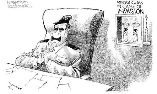 Cartoonist Nick Anderson  Nick Anderson's Editorial Cartoons 2002-11-13 weapon
