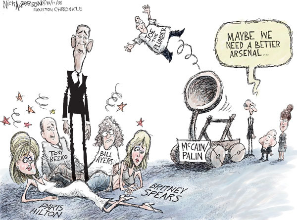 Cartoonist Nick Anderson  Nick Anderson's Editorial Cartoons 2008-10-17 presidential candidate
