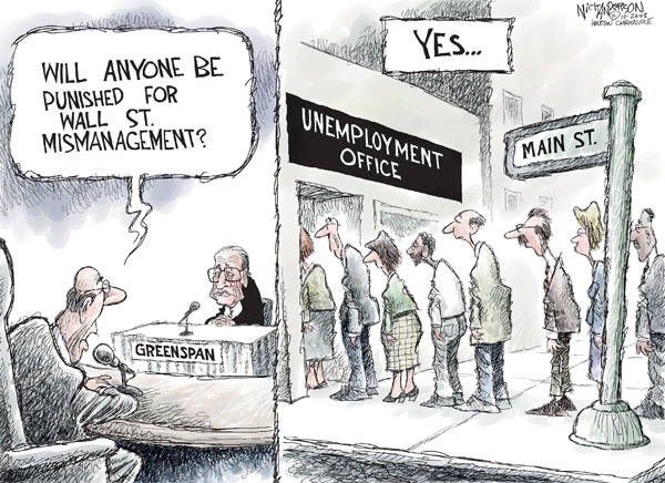 Cartoonist Nick Anderson  Nick Anderson's Editorial Cartoons 2008-10-26 punishment