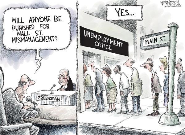 Nick Anderson  Nick Anderson's Editorial Cartoons 2008-10-26 stock market
