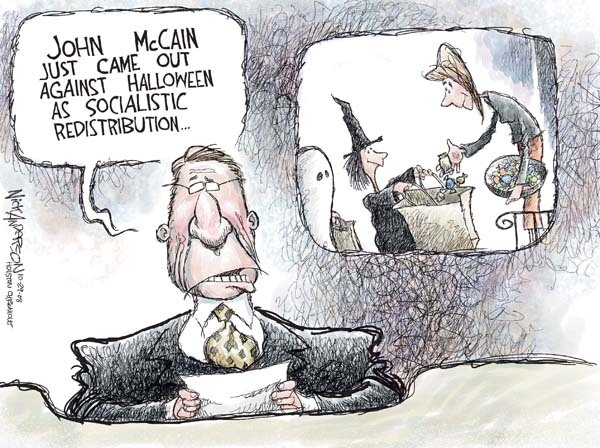 John McCain just came out against Halloween as socialistic redistribution.