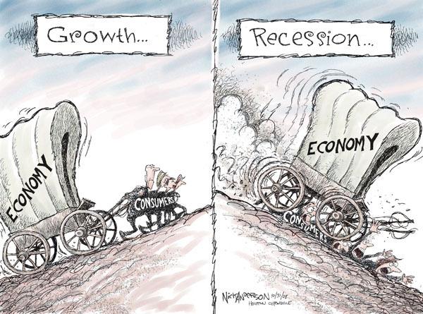 Cartoonist Nick Anderson  Nick Anderson's Editorial Cartoons 2008-10-31 recession