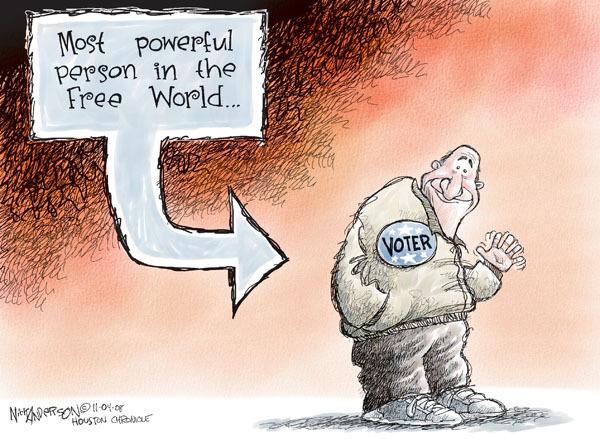 Cartoonist Nick Anderson  Nick Anderson's Editorial Cartoons 2008-11-04 2008 election