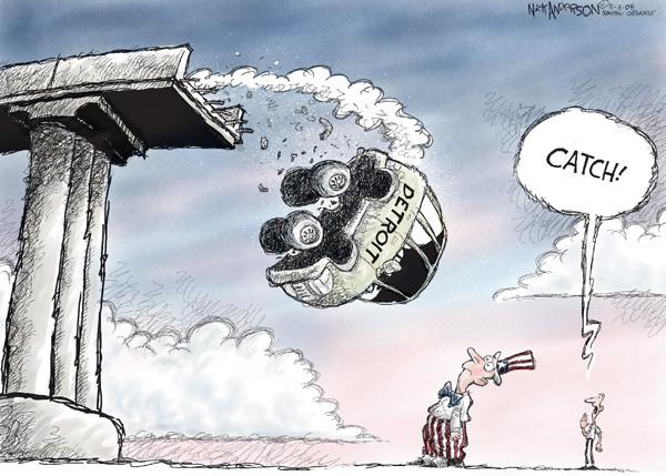 Cartoonist Nick Anderson  Nick Anderson's Editorial Cartoons 2008-11-11 automotive